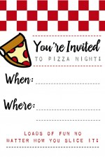 Pizza Night Invites + Papa John's