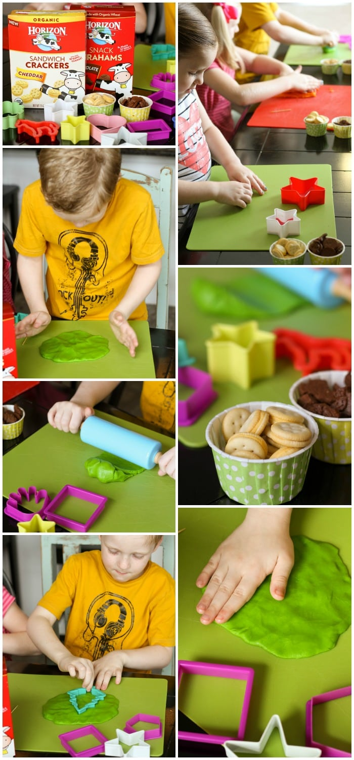 Simple (and EDIBLE) Play Dough - perfect for the kiddos. Takes just minutes to make! { lilluna.com }