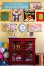 Playroom Gallery Wall + Elise Display Cabinet