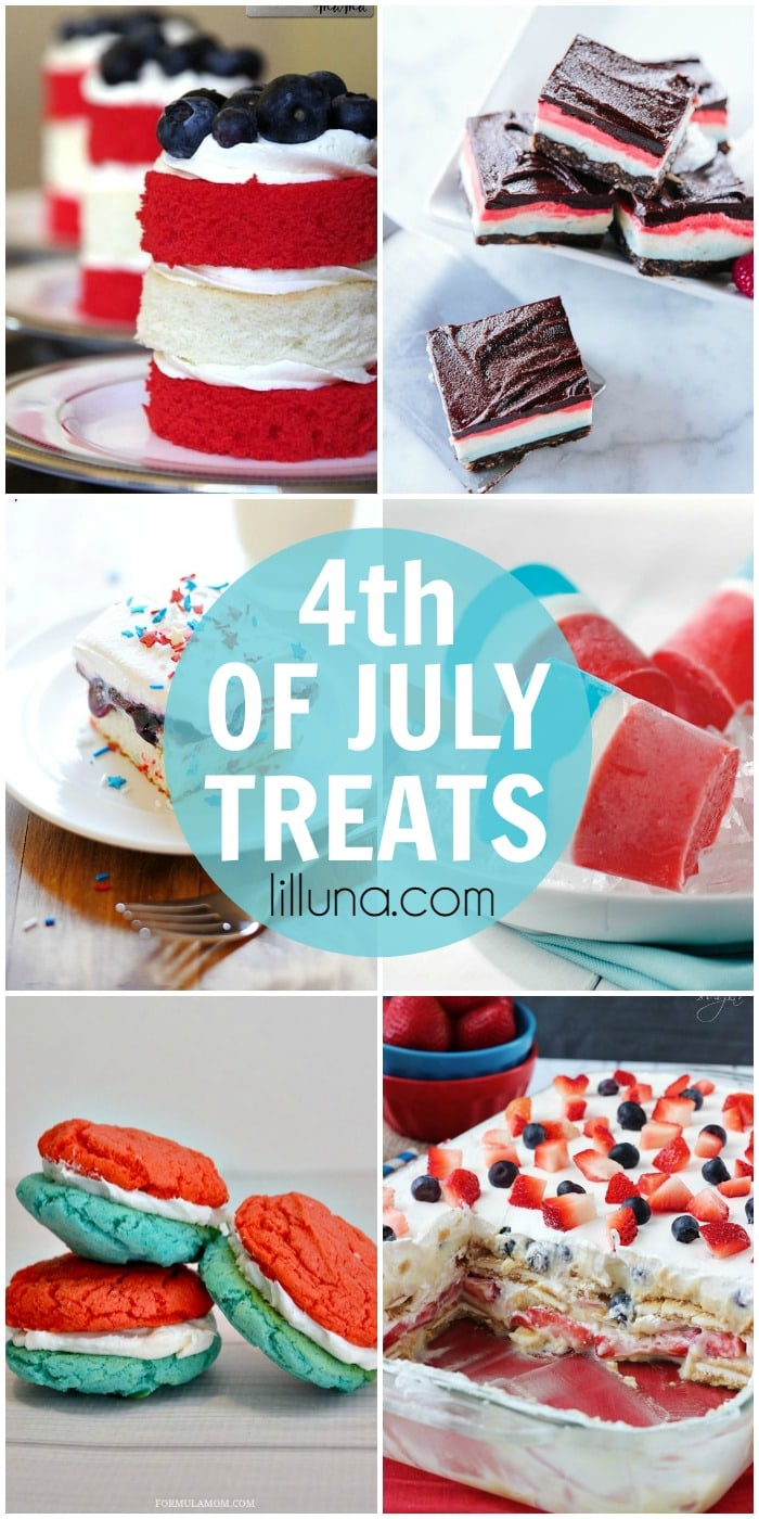 A roundup of delicious and patriotic 4th of July treats on { lilluna.com }