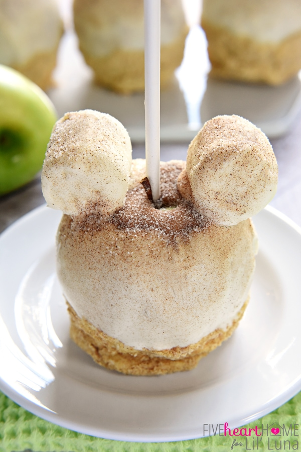 Apple Pie Caramel Apple Recipe Disneyland Copycat Lil Luna