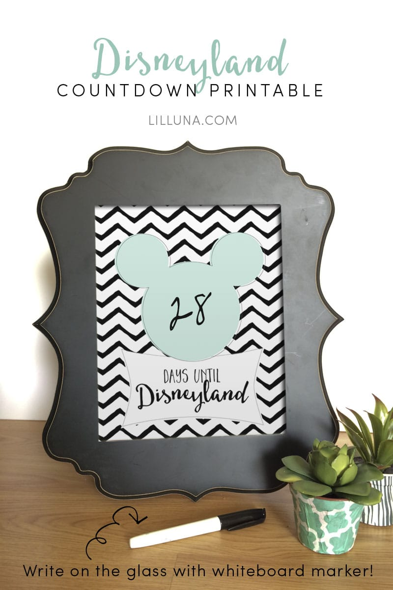 photo relating to Disney Countdown Calendar Printable titled Absolutely free Disney Countdown Printable Lil Luna