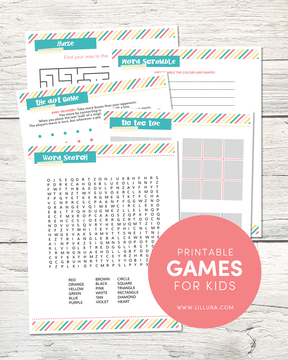 printable summer activity pack