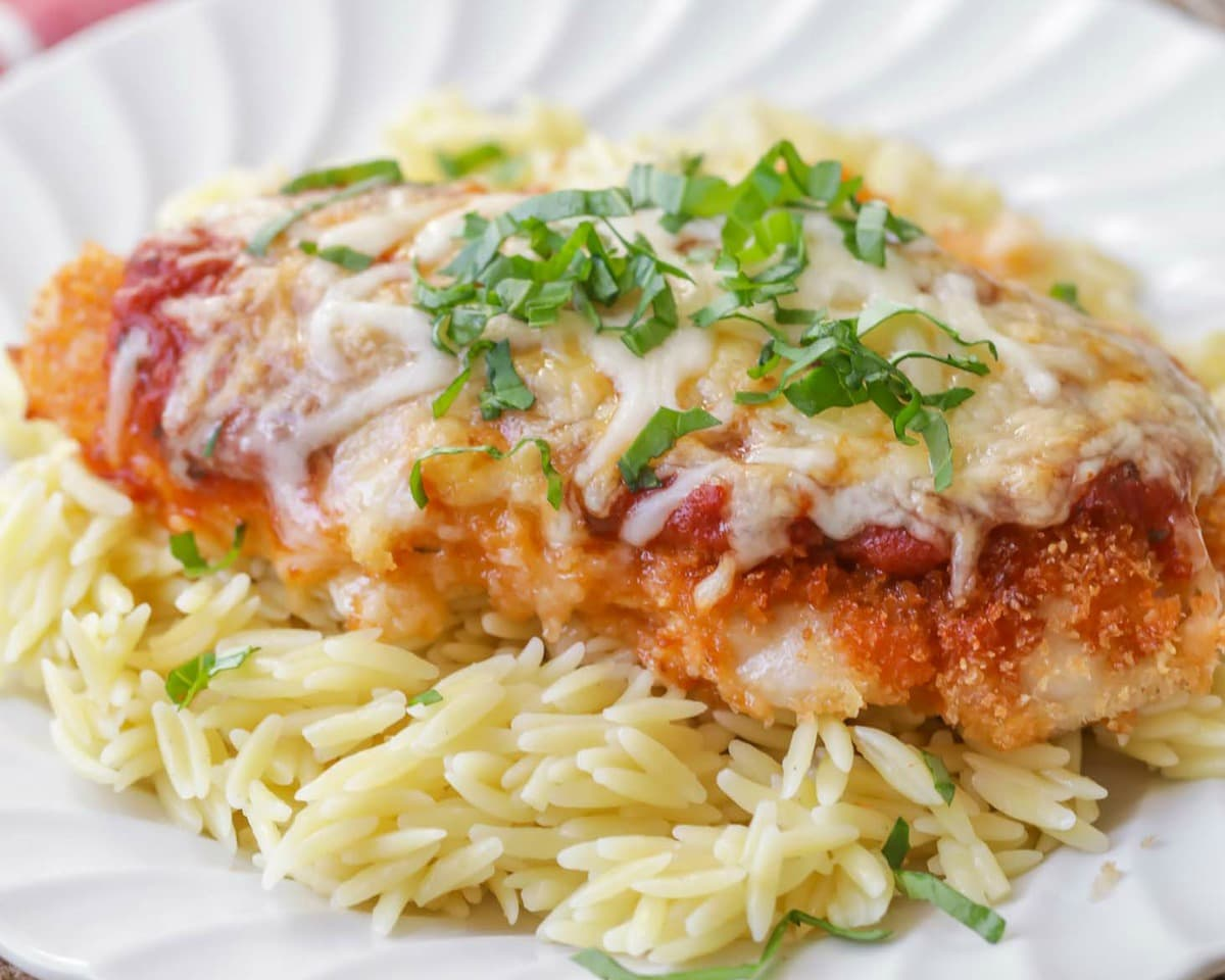 easy baked chicken parmesan recipe | lil' luna