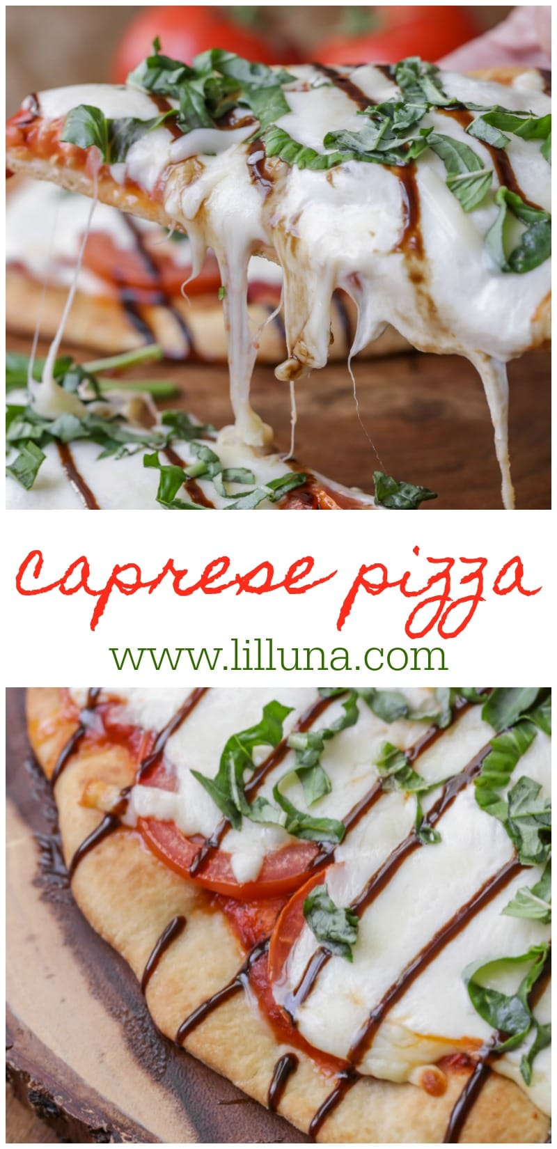 Delicious Caprese Pizza