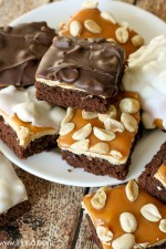 Snickers Brownie Bites recipe