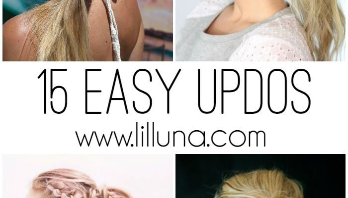 15 Easy Updos