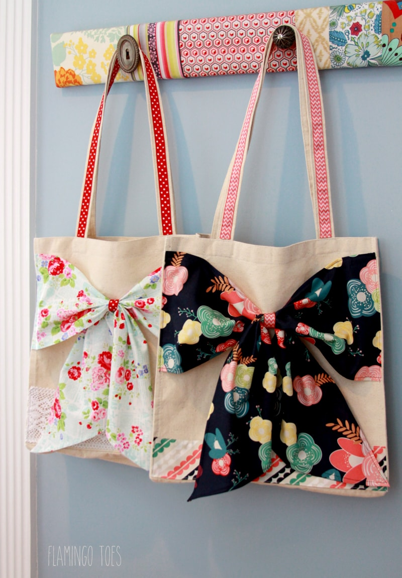 Easy Diy Fabric Wreath For Summer: DIY Bow Tote