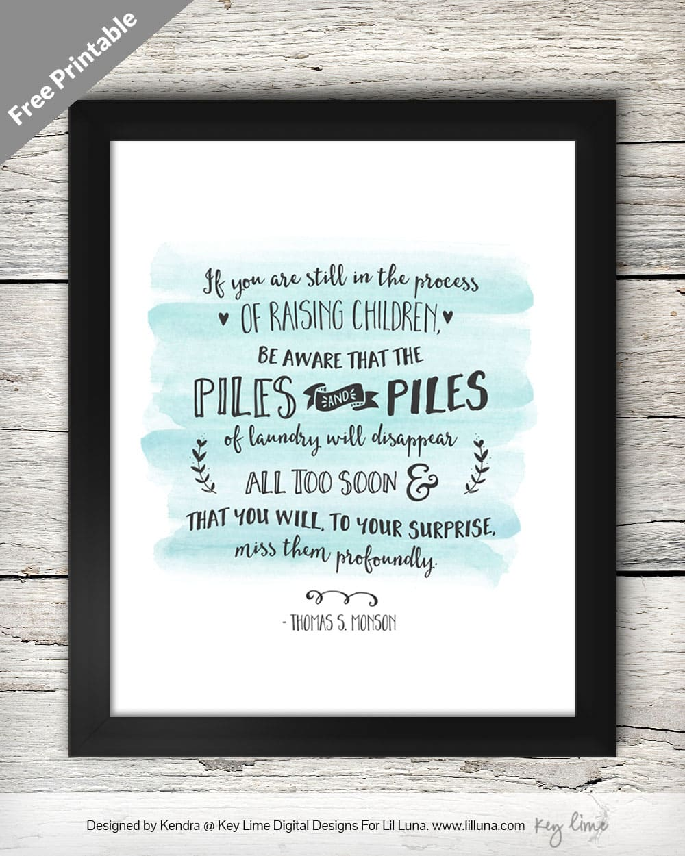 Finding Joy in the Journey Print on { lilluna.com } Love this quote!! Use as decor or give as a gift!