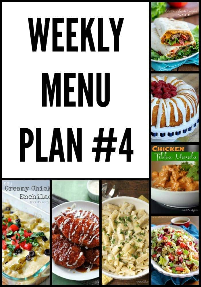 Weekly Menu Plan filled with delicious and simple recipes the whole family will love.