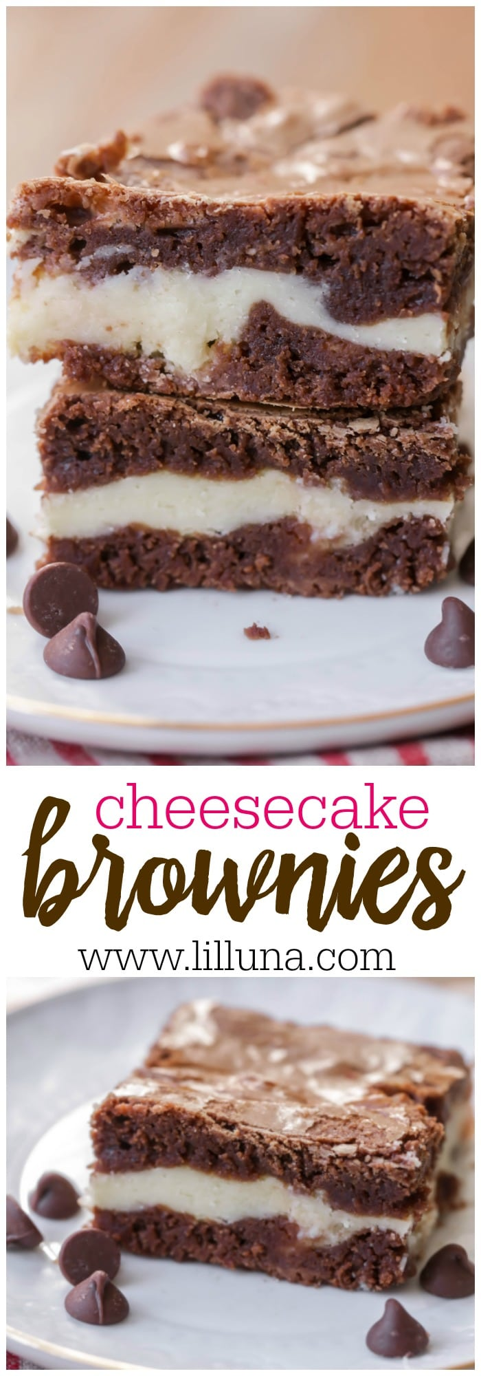 AMAZING Cheesecake Brownies - a delicious brownie dessert filled with a layer of cheesecake and baked to perfection.