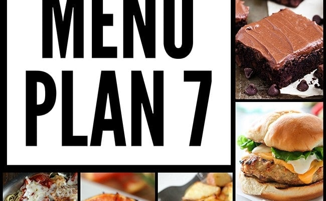 Weekly Menu Plan #7