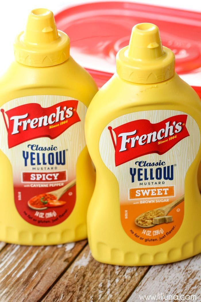 bottles of French's mustard