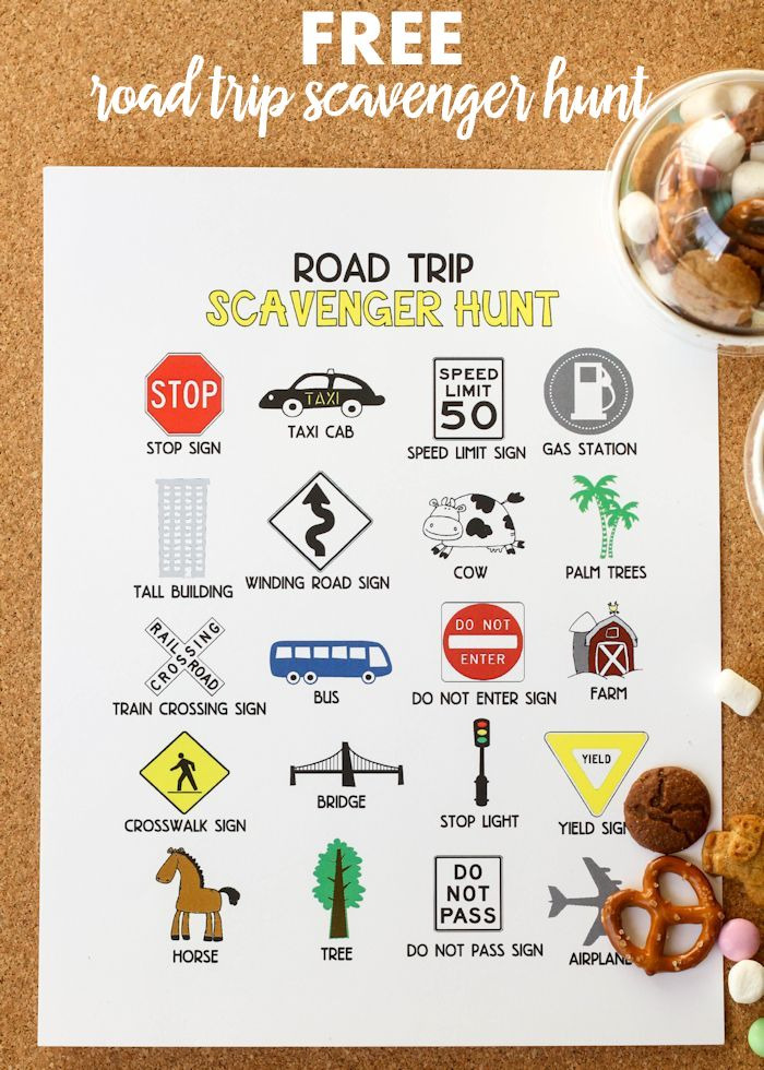 Road Trip Scavenger Hunt - Free printable on { lilluna.com } A great way to keep kids entertained during those long trips in the car!