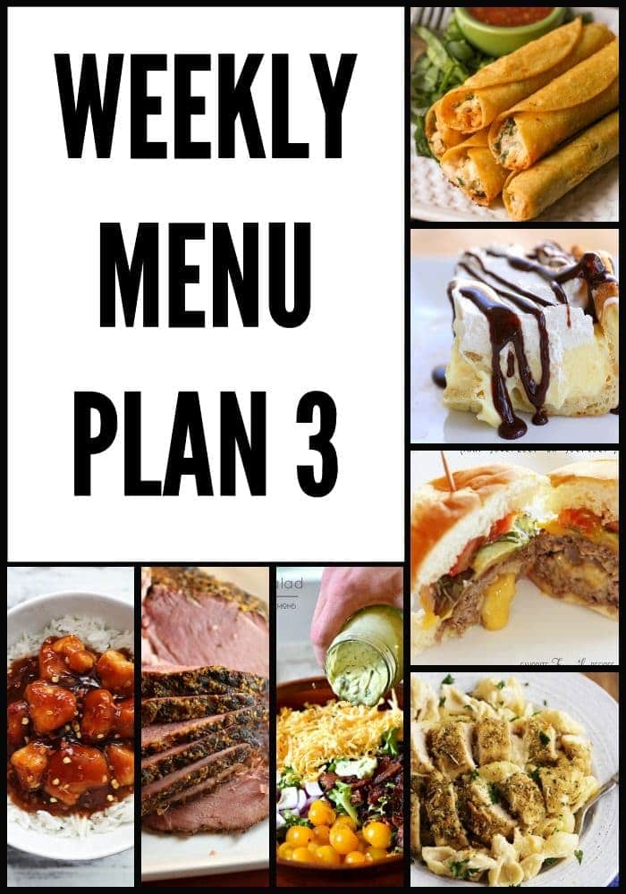 You favorite bloggers have teamed up to share a delicious Weekly Menu Plan with you!!