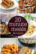 A collection of meals that only take 20 minutes to make! Lots of delicious - and quick - recipes! Check it out on { lilluna.com }