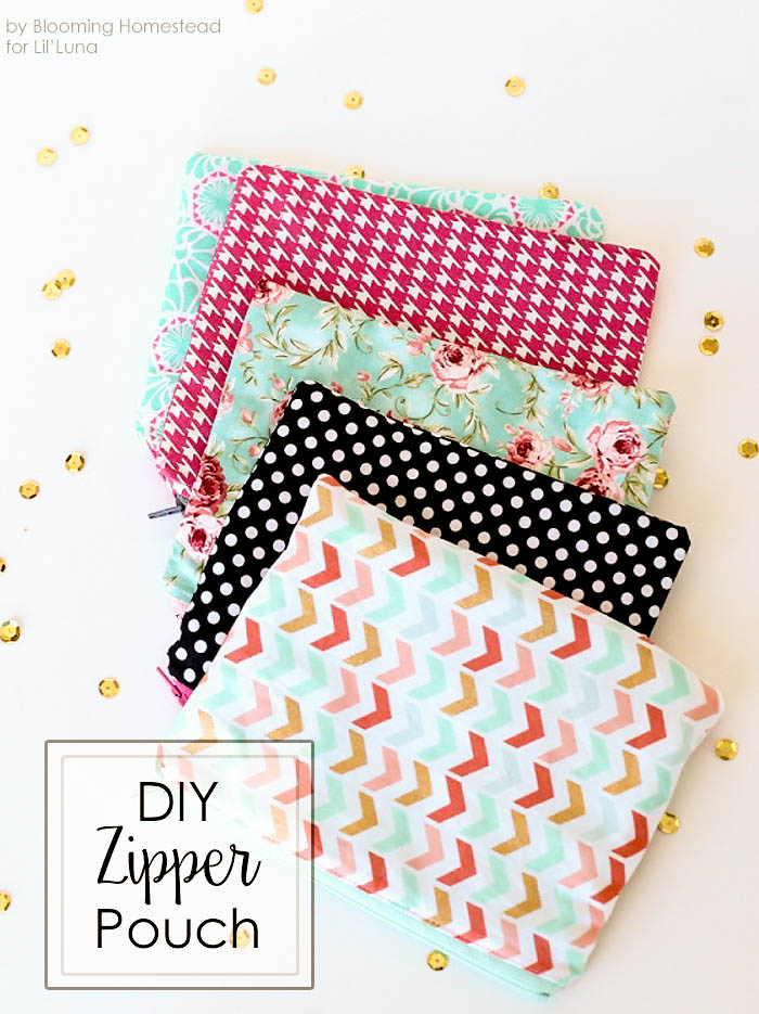 Diy zipper pouches for Sewing projects to make and sell
