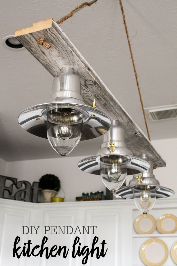 Beautiful DIY Pendant Kitchen Light - made for about $100 and the perfect  addition to any