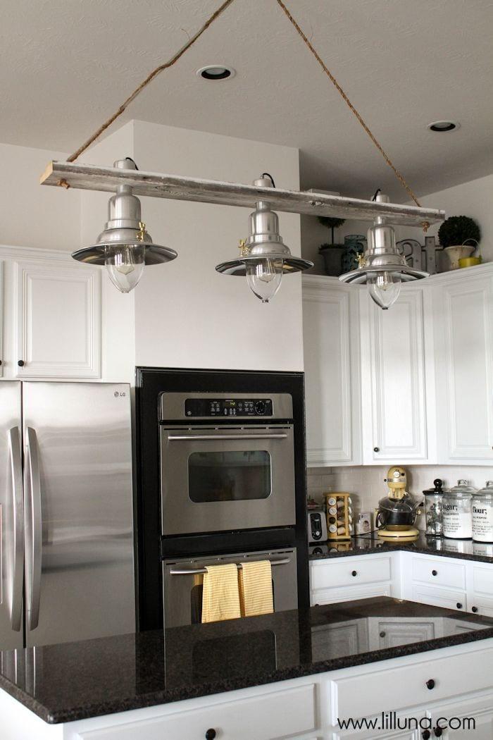 Diy pendant light for Diy kitchen lighting design
