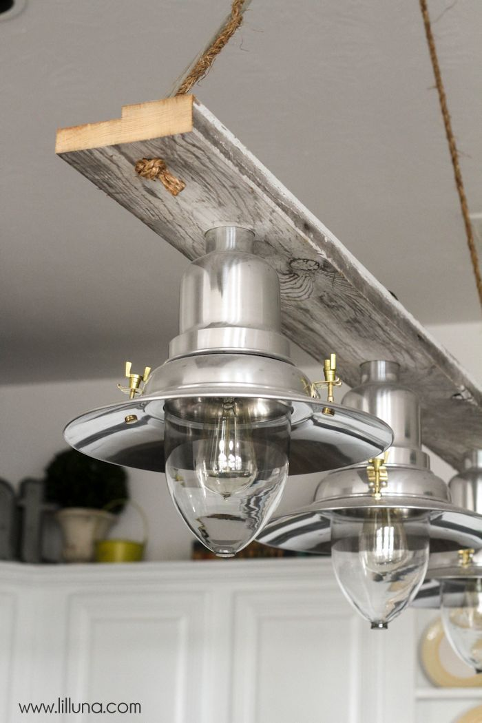 Diy pendant light for Diy kitchen light fixtures