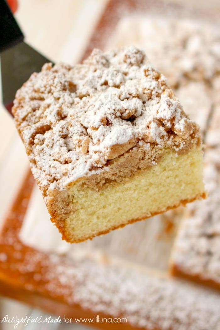 this New York Style Crumb Cake! A moist, delicious bakery-style cake ...