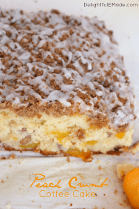 Peach Crumb Coffee Cake by Delightful E Made