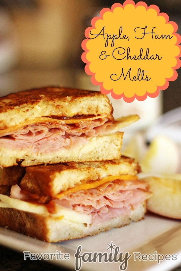 Apple Ham and Cheddar Melts