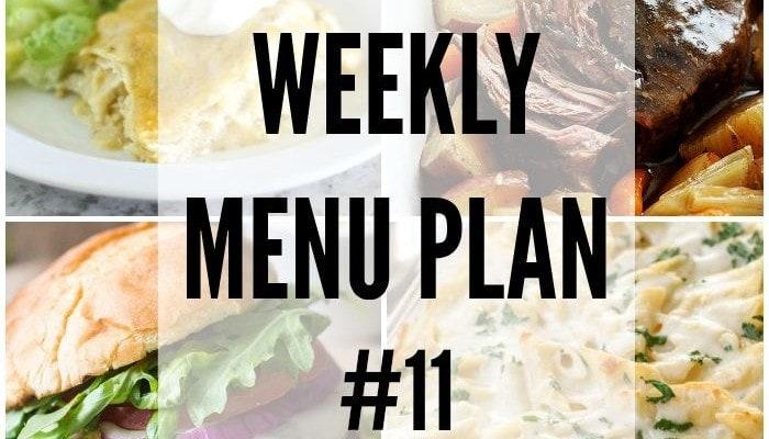 Weekly Menu Plan #11