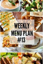 Weekly Menu Plan 13