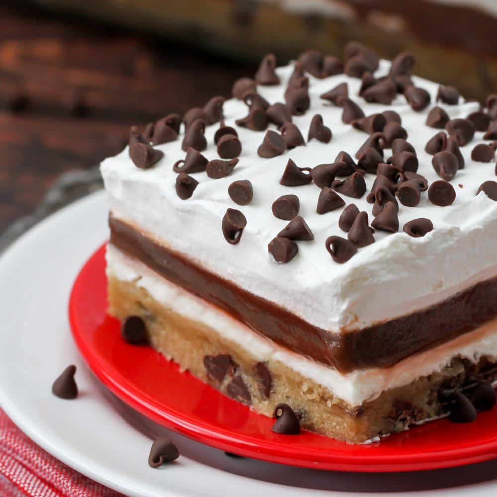 Chocolate chip cookie delight dessert
