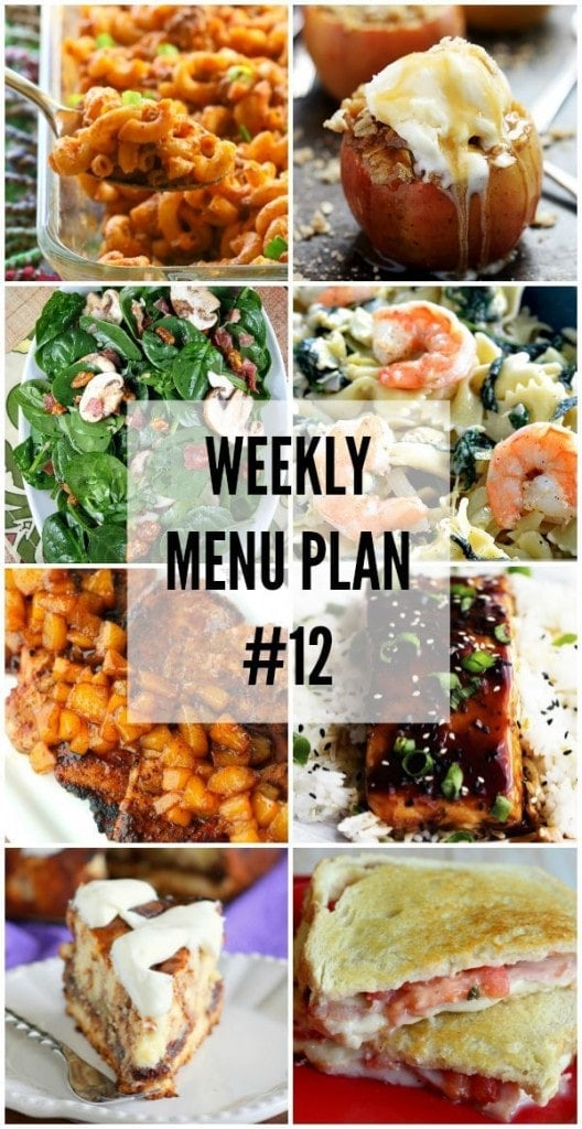 Weekly Menu Plan - a delicious collection of recipes to help you with your weekly menu! { lilluna.com }