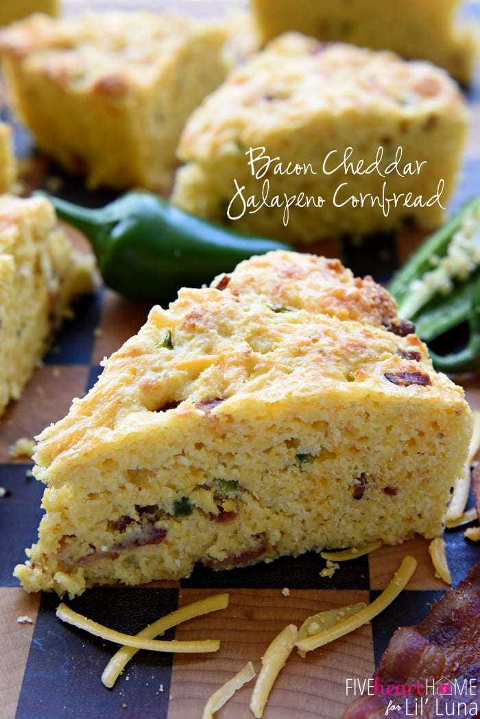 Bacon Cheddar Jalapeno Cornbread - so delicious and so flavorful! It's ...