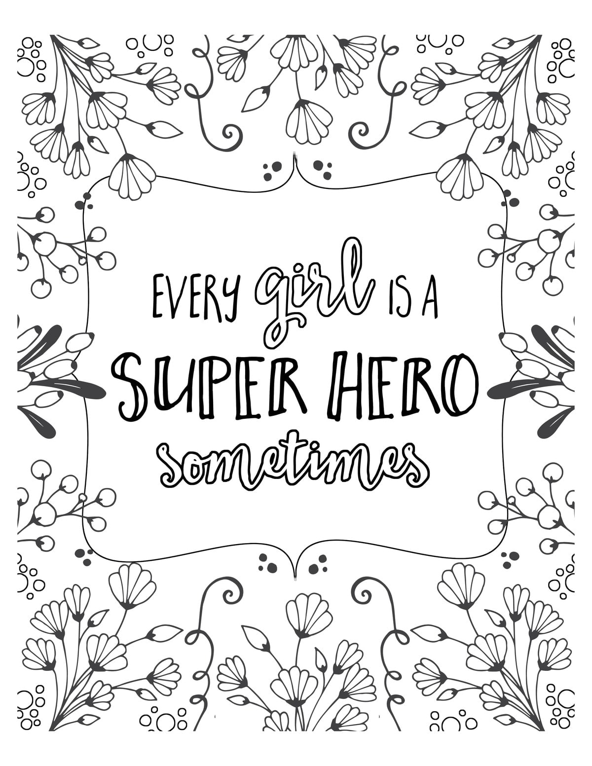Free super hero coloring pages for Free printable coloring pages for girls