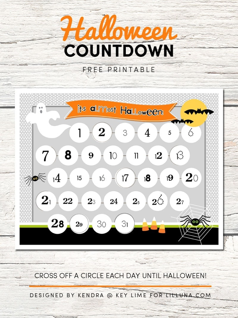 graphic about Countdown Printable known as Halloween Countdown Printable