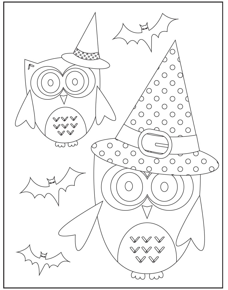 Free halloween coloring pages for Printable halloween coloring pages