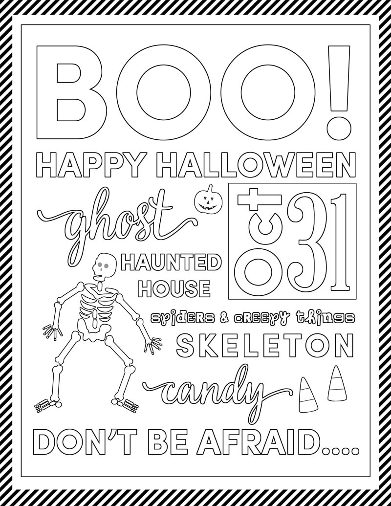 free halloween coloring pages