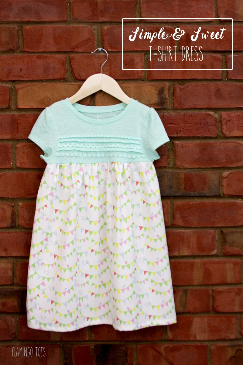 Simple and Sweet T-Shirt Dress Tutorial - check it out to learn how to turn any shirt into an adorable dress!! { lilluna.com }