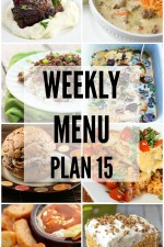 Weekly Menu Plan 15