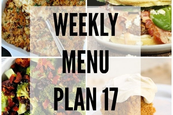 Weekly Menu Plan 17