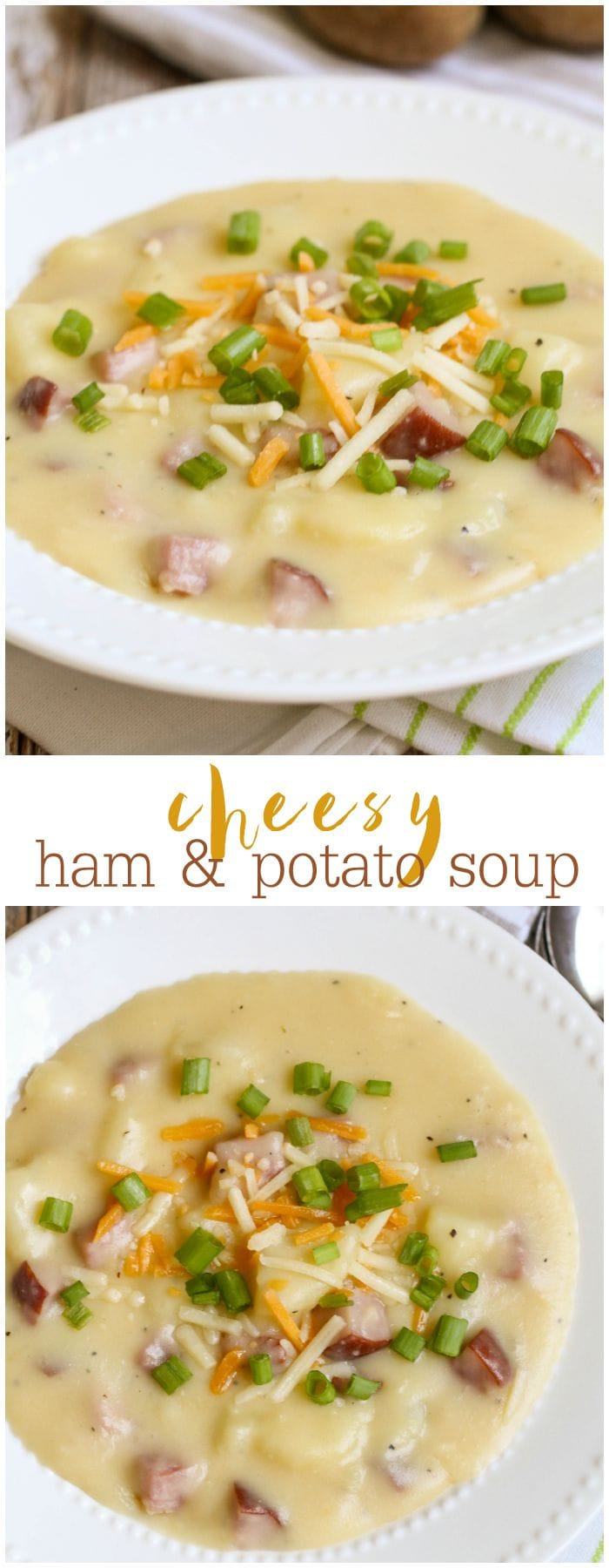 This Cheesy Ham and Potato Soup is simple and DELICIOUS!! It's one of ...