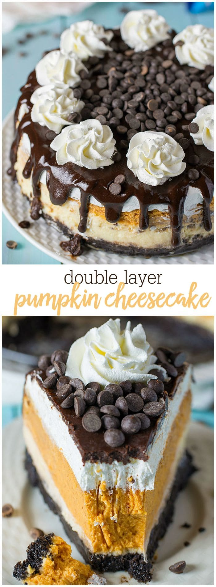 Double Layer Pumpkin Cheesecake Recipe With Oreo Crust