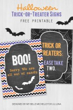 Free Trick or Treater Candy Sign Printables