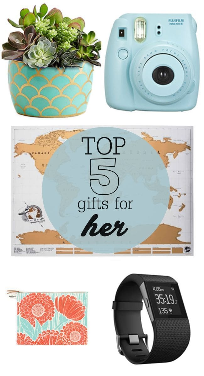 Top 5 Gifts for HER - a great collection for the lady in your life. { lilluna.com }