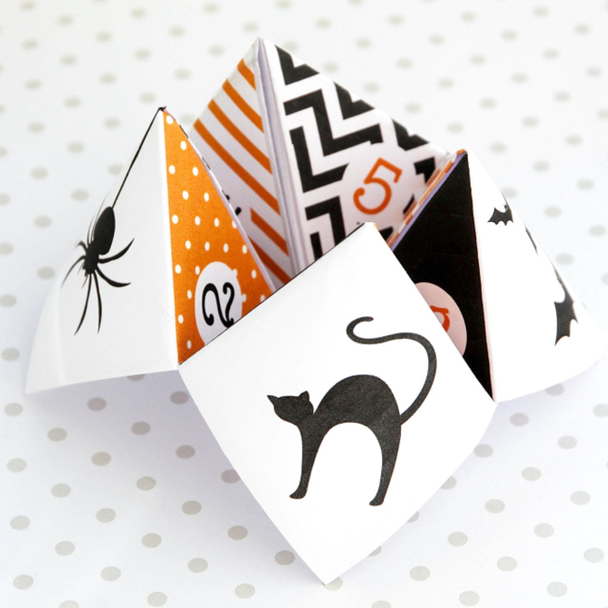 picture regarding Cootie Catcher Printable titled Halloween Cootie Catcher - Absolutely free Printable Obtain Lil Luna