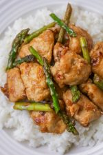 Orange Chicken and Asparagus