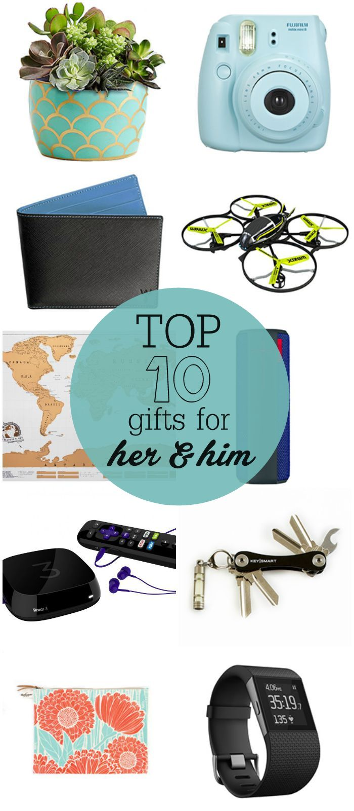 TOP 10 Gifts for Her and Him - perfect for birthdays, special days or the holidays!!