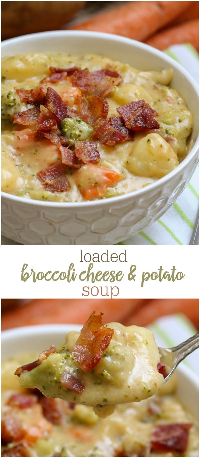 Loaded Broccoli, Cheese and Potato Soup
