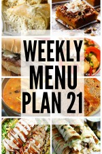 Weekly Menu Plan 21