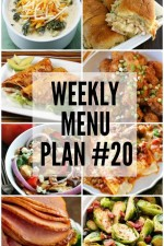 Weekly Menu Plan 20