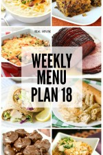 Weekly Menu Plan 18